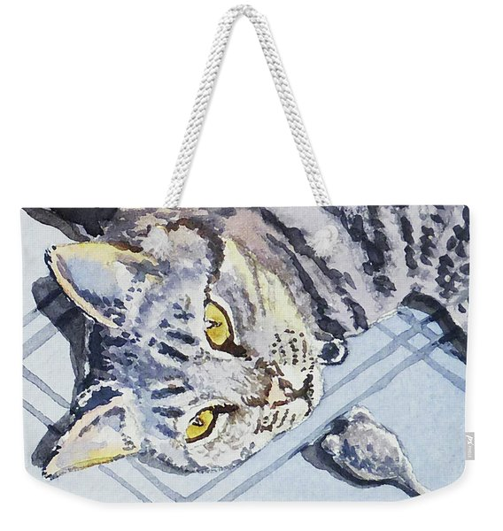 Cat Alert  Weekender Tote Bag