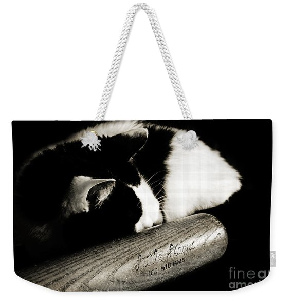 Cat And Bat Weekender Tote Bag