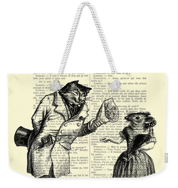 Cat And Mouse Weekender Tote Bag