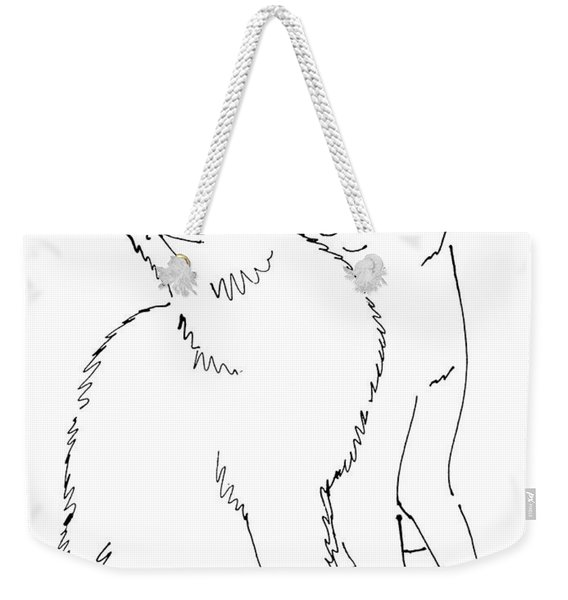 Cat-art-curious Weekender Tote Bag