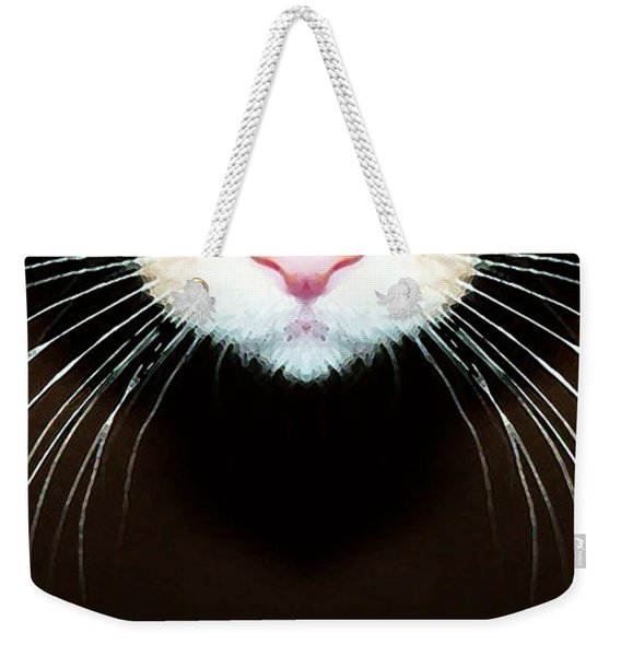 Cat Art - Super Whiskers Weekender Tote Bag