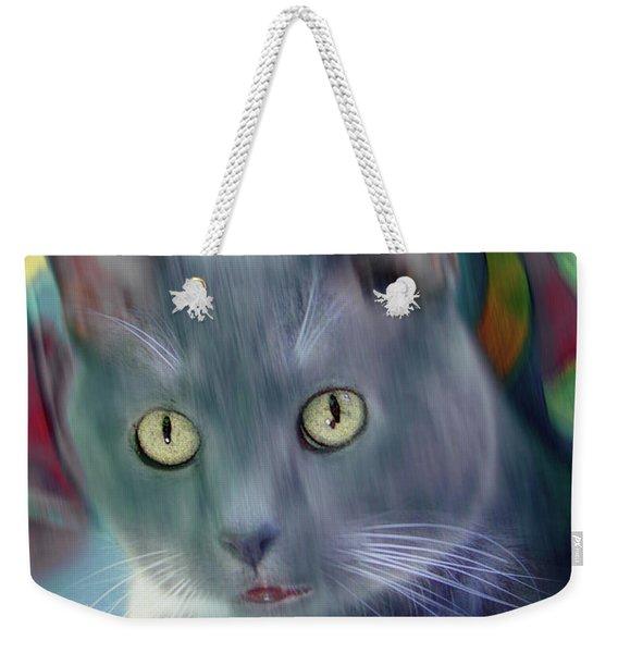 Cat Boticas Portrait 2 Weekender Tote Bag