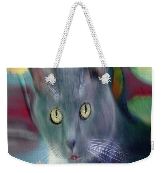 Cat Boticas Portrait 3 Weekender Tote Bag