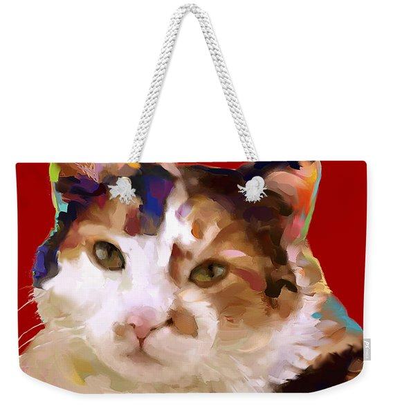 Cat Calico Callie Weekender Tote Bag