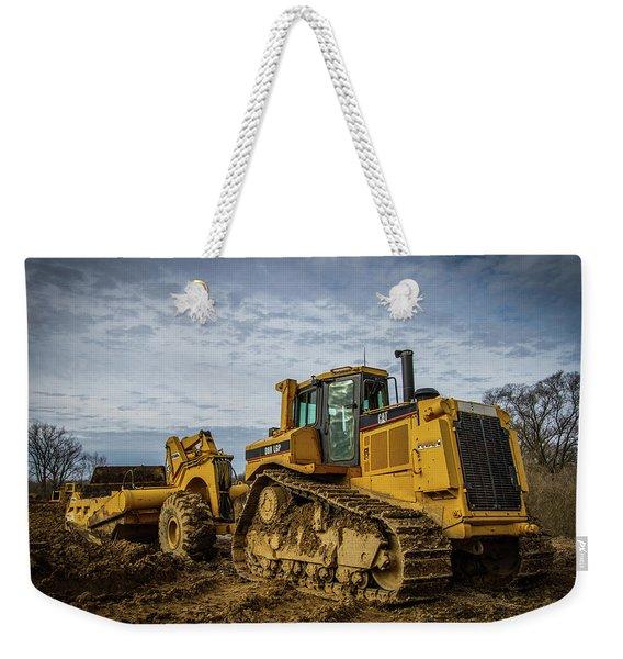 Cat Construction Weekender Tote Bag