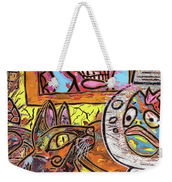 Cat Fish Weekender Tote Bag