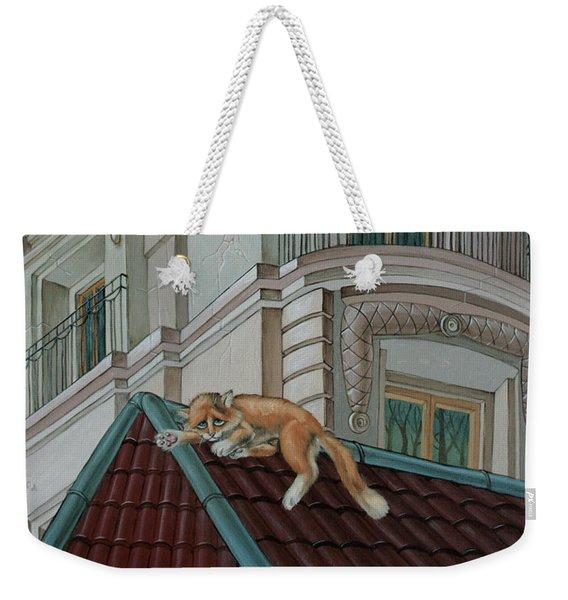 Cat From A Boulevard Saint-michel Weekender Tote Bag