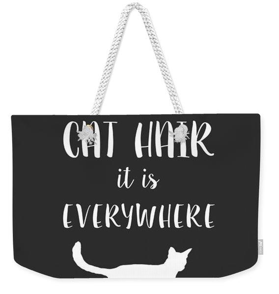 Cat Hair Weekender Tote Bag
