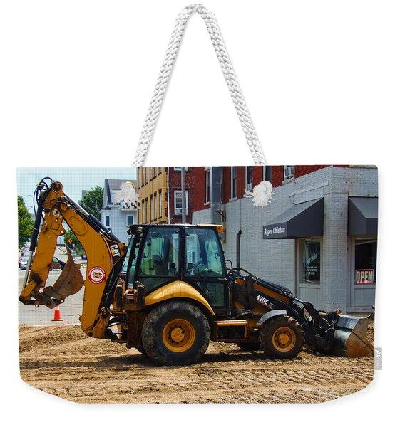 Cat Loader Backhoe 420e It Weekender Tote Bag