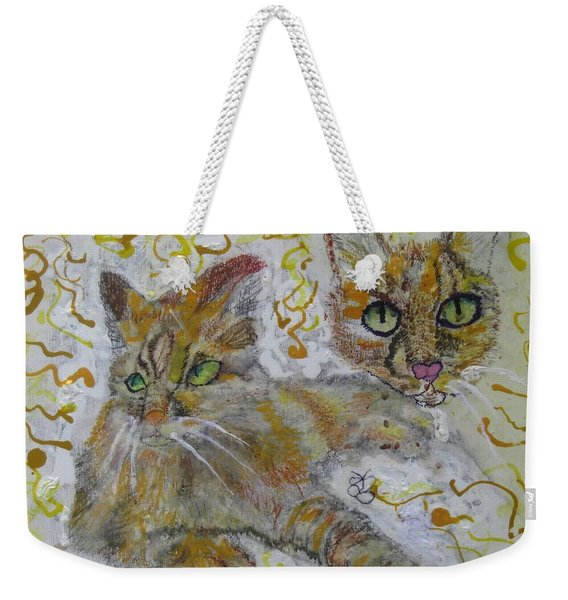 Cat Named Phoenicia Weekender Tote Bag