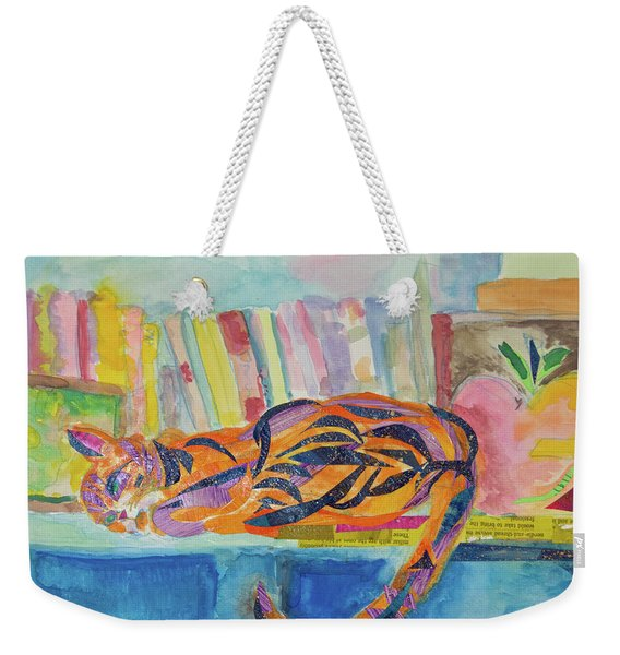 Cat Nap Weekender Tote Bag
