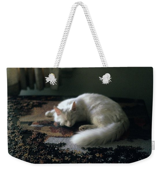 Cat On A Puzzle Weekender Tote Bag