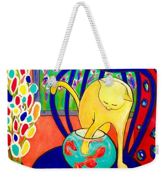 Cat - Tribute To Matisse Weekender Tote Bag