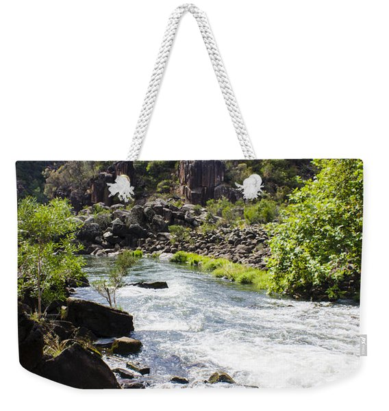 Cataract George Landscape In Launceston Tasmania Weekender Tote Bag