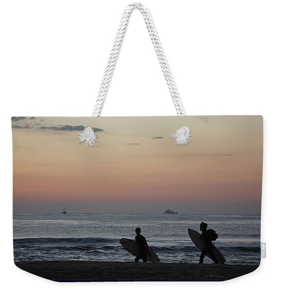 Catch A Wave By Frosty Hesson Weekender Tote Bag