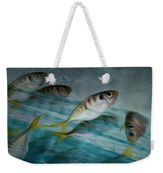 Catch Of Fish By Net - Ocean Fishing Weekender Tote Bag