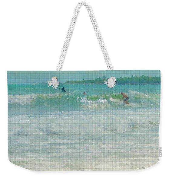 Catching The Wave Weekender Tote Bag