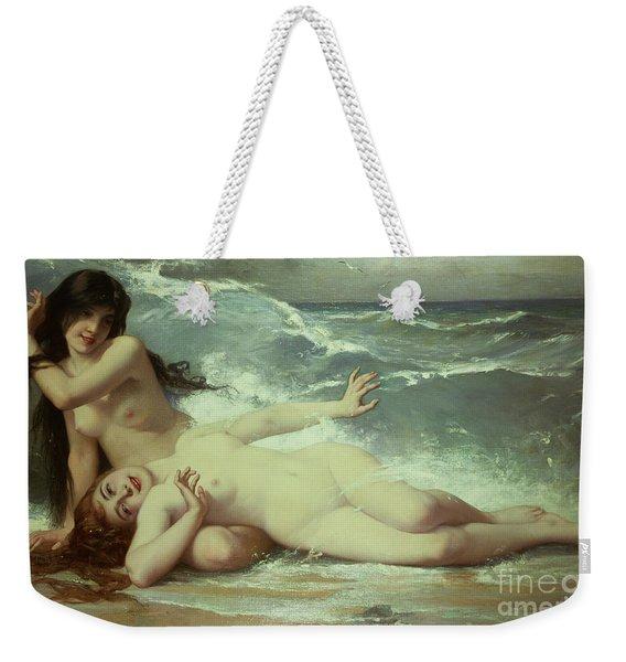 Catching Waves  Weekender Tote Bag