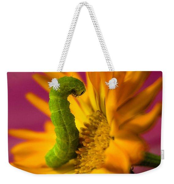 Caterpillar In Flower Weekender Tote Bag