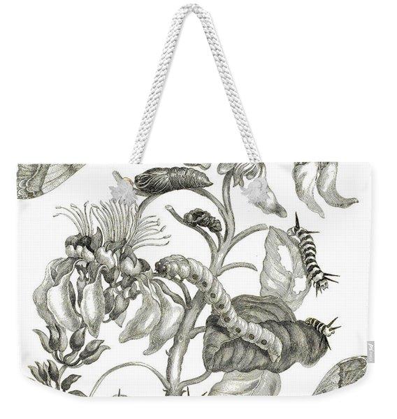Caterpillars, Butterflies, And Flower Weekender Tote Bag