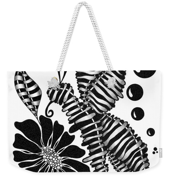 Caterpiller And Flower Weekender Tote Bag