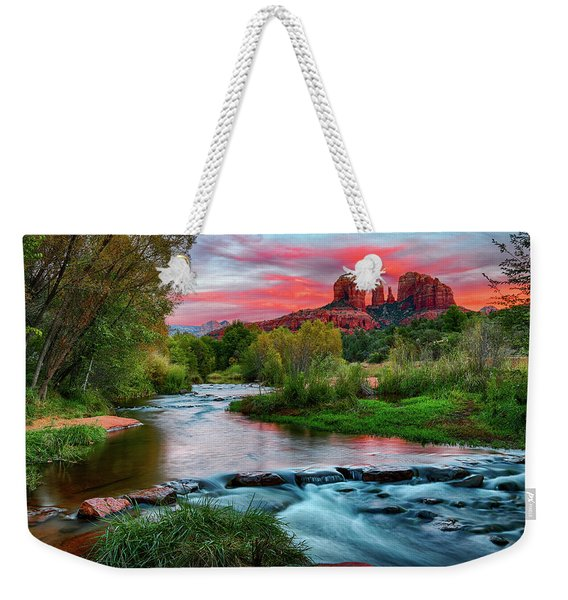 Cathedral At Sunset Weekender Tote Bag
