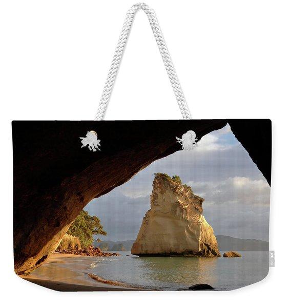 Cathedral Cove Weekender Tote Bag