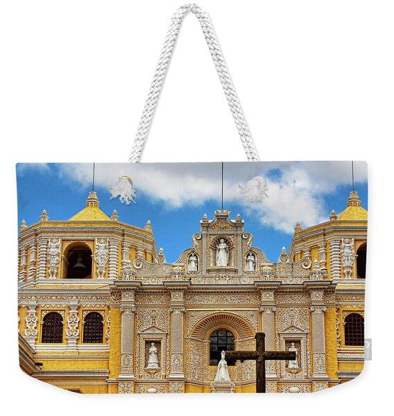 Cathedral In Antigua, Guatemala Weekender Tote Bag