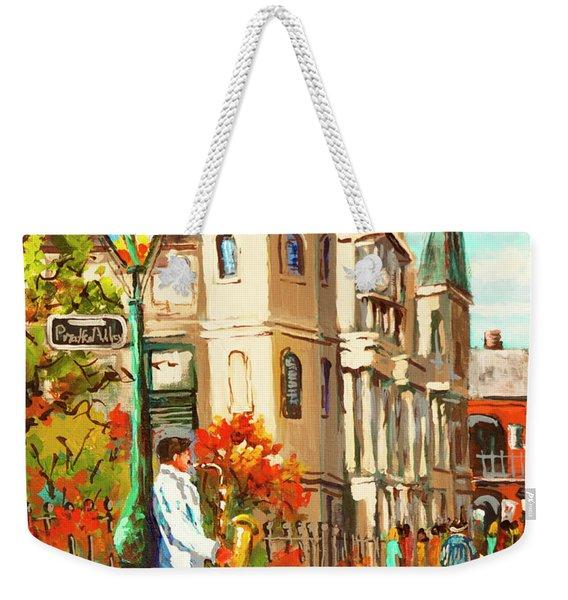 Cathedral Jazz Weekender Tote Bag