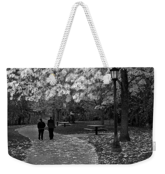 Cathedral Park In Fall Bw Weekender Tote Bag