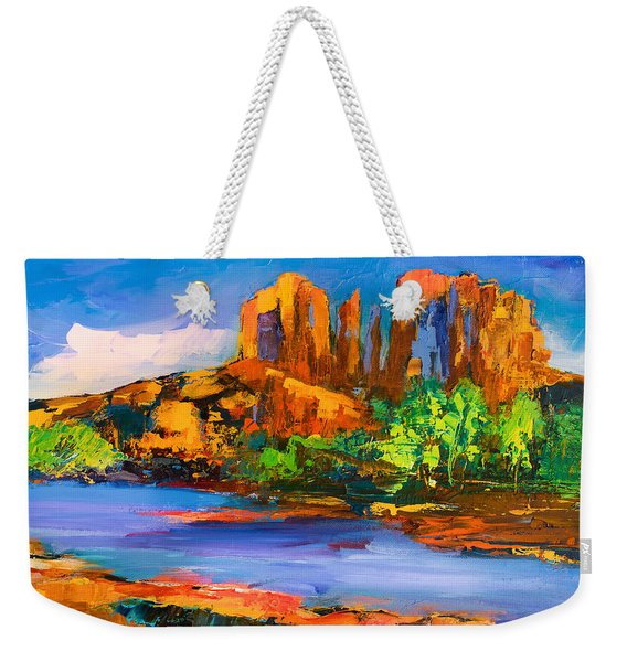 Cathedral Rock Afternoon Weekender Tote Bag