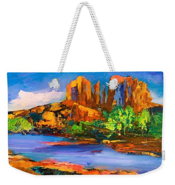 Cathedral Rock Afternoon Weekender Tote Bag