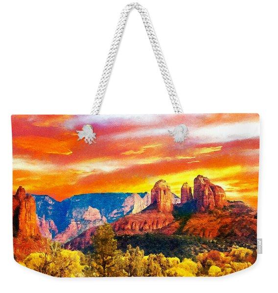 Cathedral Rocks Red Rock State Park Weekender Tote Bag