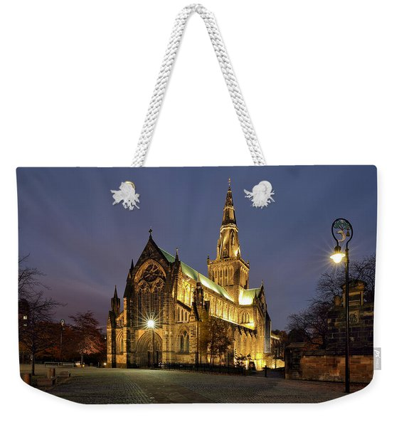 Cathedral Twilight Weekender Tote Bag