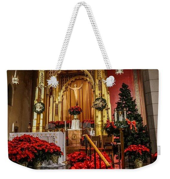 Catholic Christmas Weekender Tote Bag