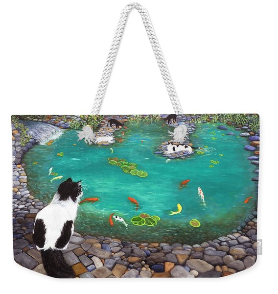 Cats And Koi Weekender Tote Bag
