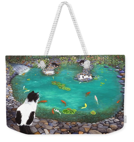Cats And Koi Weekender Tote Bag