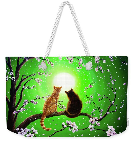 Cats On A Spring Night Weekender Tote Bag