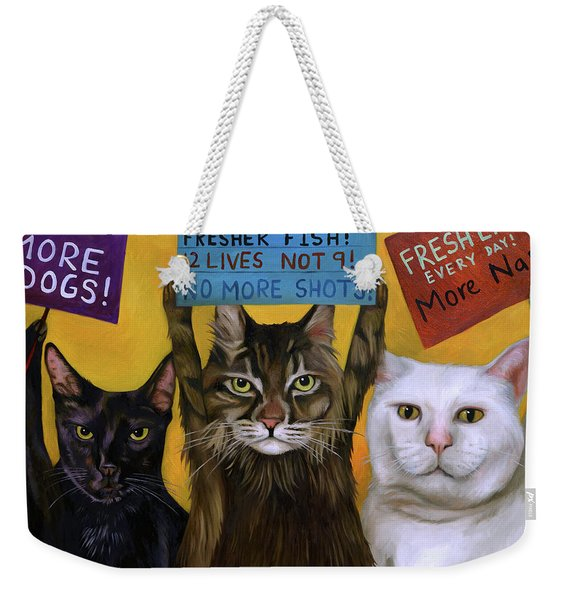 Cats On Strike 2 Weekender Tote Bag