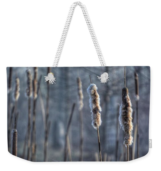 Cattails In The Winter Weekender Tote Bag