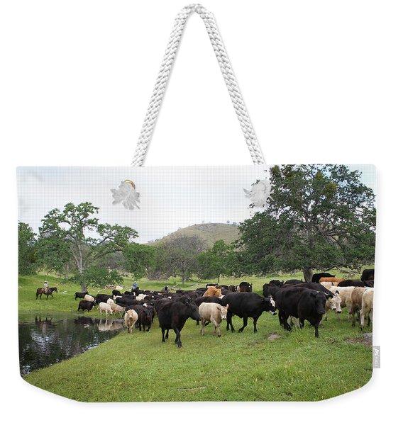 Cattle Weekender Tote Bag