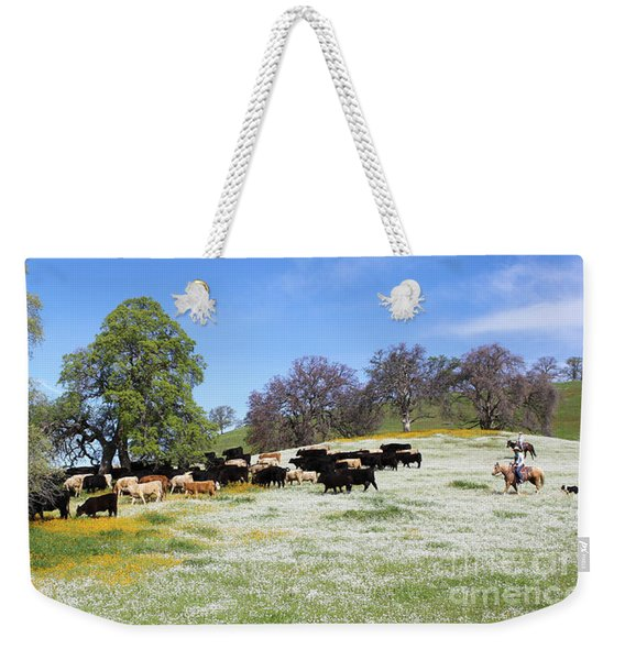 Cattle N Flowers Weekender Tote Bag