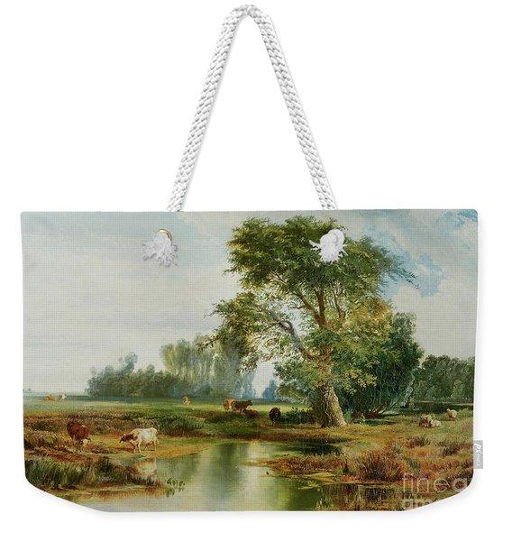 Cattle Watering Weekender Tote Bag