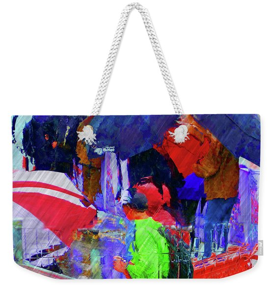 Caught In A Shower Weekender Tote Bag