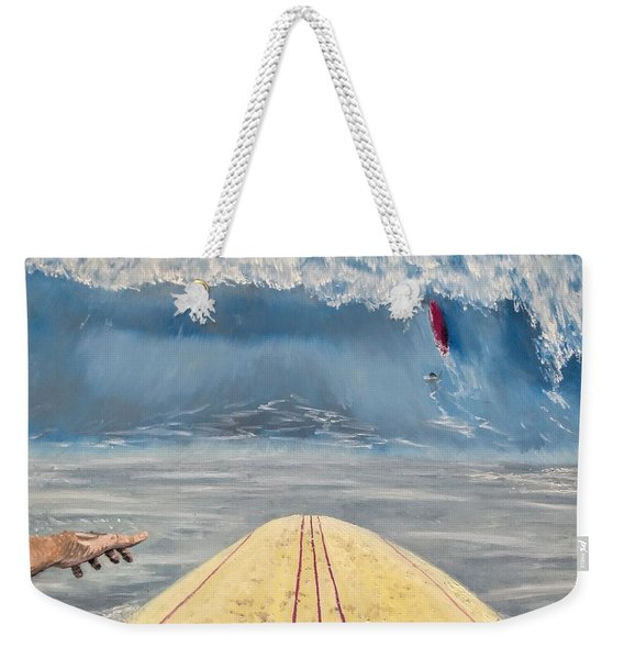 Weekender Tote Bag featuring the painting Caught Inside by Kevin Daly