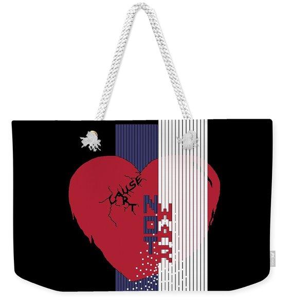 Cause Art Not War Transparent Weekender Tote Bag