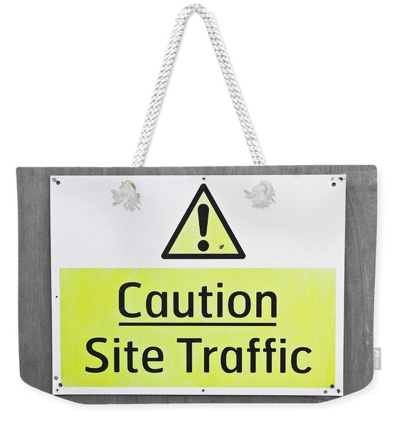 Caution Sign Weekender Tote Bag