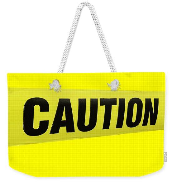 Caution Tape Weekender Tote Bag