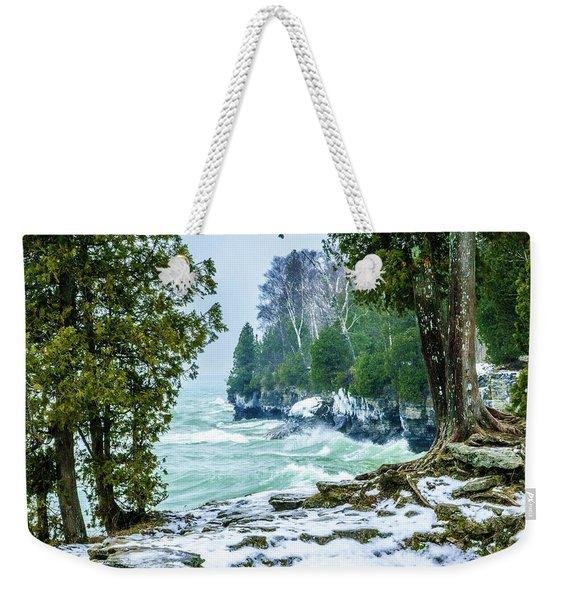 Cave Point #5 Weekender Tote Bag