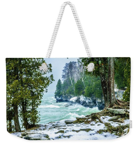 Cave Point #5 Weekender Tote Bag